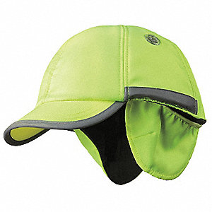 Yellow Inner ABS Polymer, Outer Nylon Bump Cap, Style: Winter Baseball, Fits Hat Size: 7 to 7-3/4