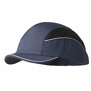 Navy Inner ABS Polymer, Outer Nylon Bump Cap, Style: Short Peak Baseball, Fits Hat Size: 7 to 7-3/4
