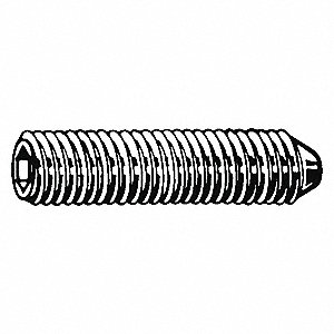 "5/8"" Alloy Steel Socket Set Screw with Plain Finish&#x3b; PK100"
