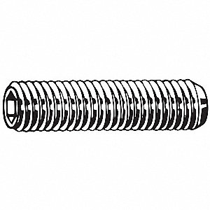 40mm A2 Stainless Steel Socket Set Screw with Plain Finish; PK5