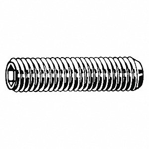 "5-40 x 1/8"" Alloy Steel Socket Set Screw with Black Oxide Finish; PK100"