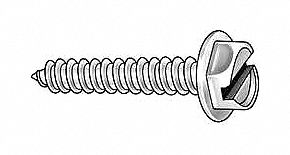 """YOUR CHOICE  #8 X 1//2/"""" STAINLESS HEX WASHER HEAD SLOTTED SHEET METAL SCREWS"""