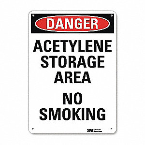 "Chemical, Gas or Hazardous Materials, Danger, Recycled Aluminum, 14"" x 10"", With Mounting Holes"