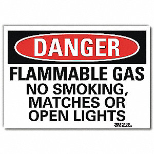 Danger No Smoking Sign,Flammable,7x10