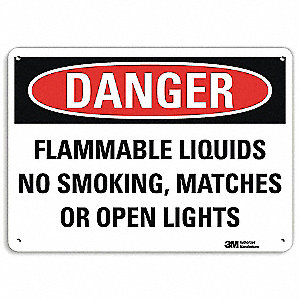 "Chemical, Gas or Hazardous Materials, Danger, Aluminum, 7"" x 10"", With Mounting Holes, Engineer"