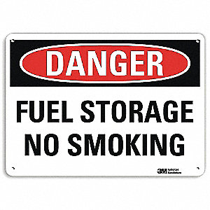 Danger No Smoking Sign,Fuel Store,10x14
