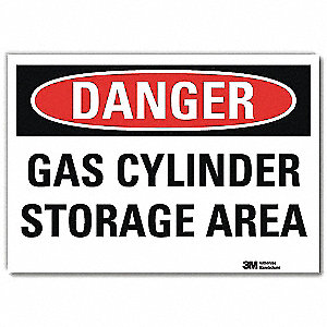 "Chemical, Gas or Hazardous Materials, Danger, Vinyl, 5"" x 7"", Adhesive Surface, Engineer"