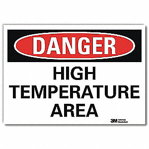 Danger Sign,Self-Adhesv Mount,7inWx5inH