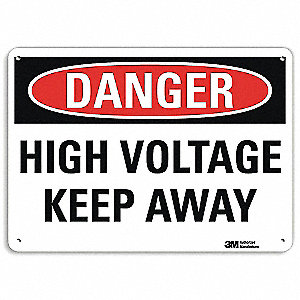 "Electrical Hazard, Danger, Recycled Aluminum, 7"" x 10"", With Mounting Holes, Engineer"