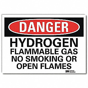 "Chemical, Gas or Hazardous Materials, Danger, Vinyl, 10"" x 14"", Adhesive Surface, Engineer"