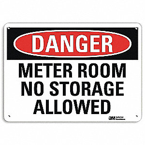 "Facility, Danger, Aluminum, 7"" x 10"", With Mounting Holes, Engineer"