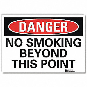 Danger No Smoking Sign,Beyond This,10x14