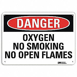"Chemical, Gas or Hazardous Materials, Danger, Recycled Aluminum, 7"" x 10"", With Mounting Holes"