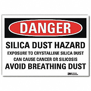 "Health Hazard, Danger, Vinyl, 7"" x 10"", Adhesive Surface, Engineer"