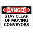 Danger: Stay Clear Of Moving Conveyors Signs