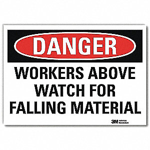 "Facility, Danger, Vinyl, 7"" x 10"", Adhesive Surface, Engineer"