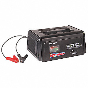 Battery Charger,6/12VDC,Automatic,Steel
