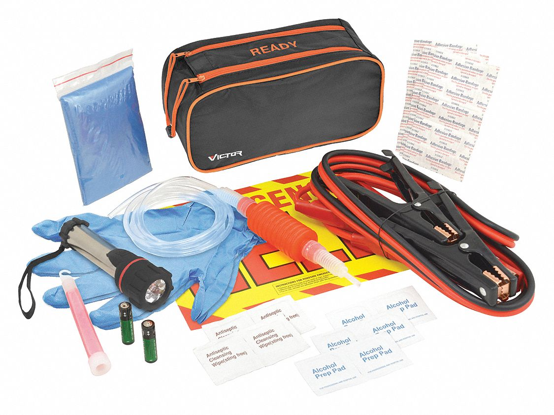 Roadside Emergency Kit, 36 Piece