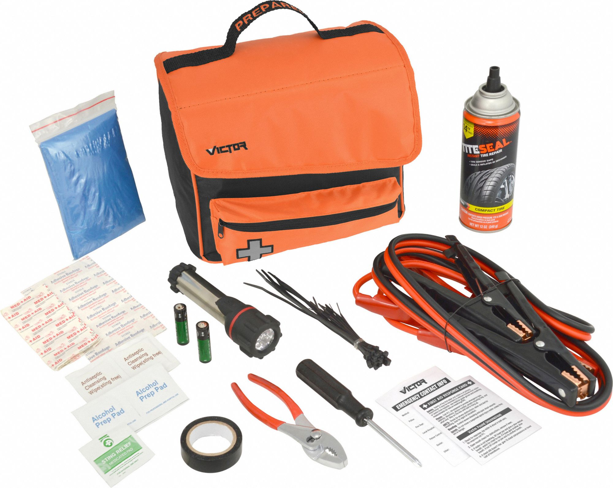 Roadside Emergency Kit/Triangle,57 Piece