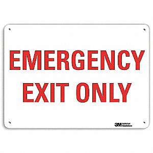 Safety Sign,Reflctv Alumi,14inH x 10inW