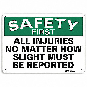 Safety Sign,Reflective Alum,10inHx14inW