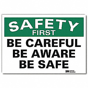 Safety Decal,Reflective Vinyl,5inHx7inW