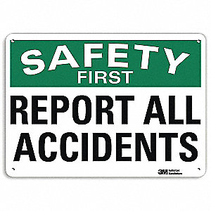 "Accident Prevention, No Header, Aluminum, 7"" x 10"", With Mounting Holes, Engineer"