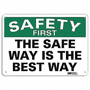 "Safety Incentive and Motivational, No Header, Aluminum, 7"" x 10"", With Mounting Holes, Engineer"