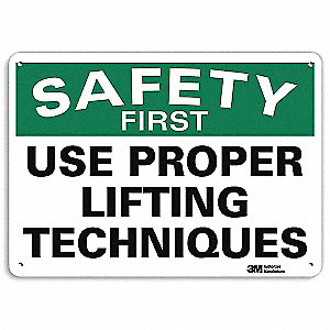 Safety Sign,Reflective Alum,7inHx10inW