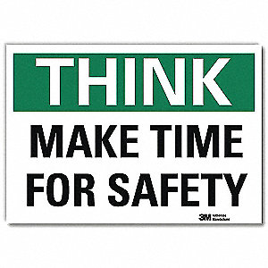 Safety Decal,Reflctv Vinyl,10inH x 14inW