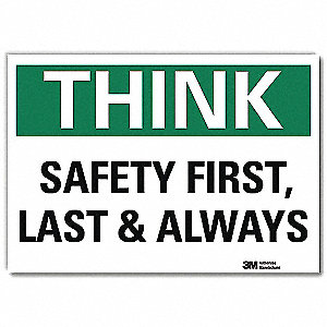 "Safety Incentive and Motivational, No Header, Vinyl, 5"" x 7"", Adhesive Surface, Engineer"