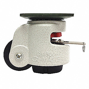 "2-1/2"" Plate Leveling Caster,727 lb. Load Rating"
