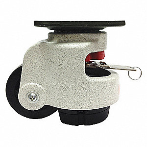 "3"" Plate Leveling Caster,1190 lb. Load Rating"
