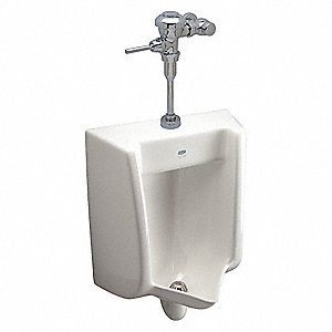 "Siphon Jet Wall Urinal, 0.125 Gallons per Flush, 37-1/8""H x 18-1/2""W, White"
