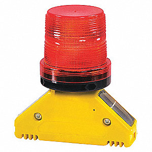 BARRICADE LIGHT D CELL 1 SIDED RED