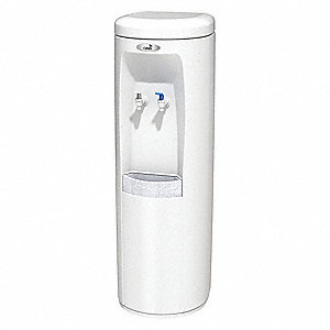 Free-Standing Inline Water Dispenser for Cold, Room Temperature Water