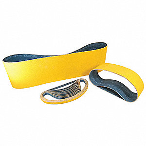 "Sanding Belt, 48"" Length, 6"" Width, Ceramic, 24 Grit, Extra Coarse, Coated, EA1"