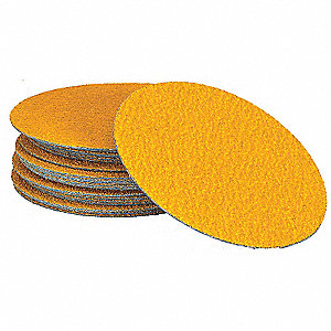 "6"" PSA Sanding Disc, 100 Grit, Fine, Coated, No Hole, Ceramic, Predator(TM), EA1"
