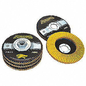 "5"" Flap Disc, Type 29, 5/8""-11 Mounting Hole, Fine, 120 Grit Ceramic, 1 EA"