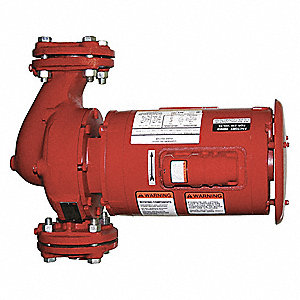 1-1/2 HP Bronze Fitted In Line Centrifugal Hydronic Circulating Pump