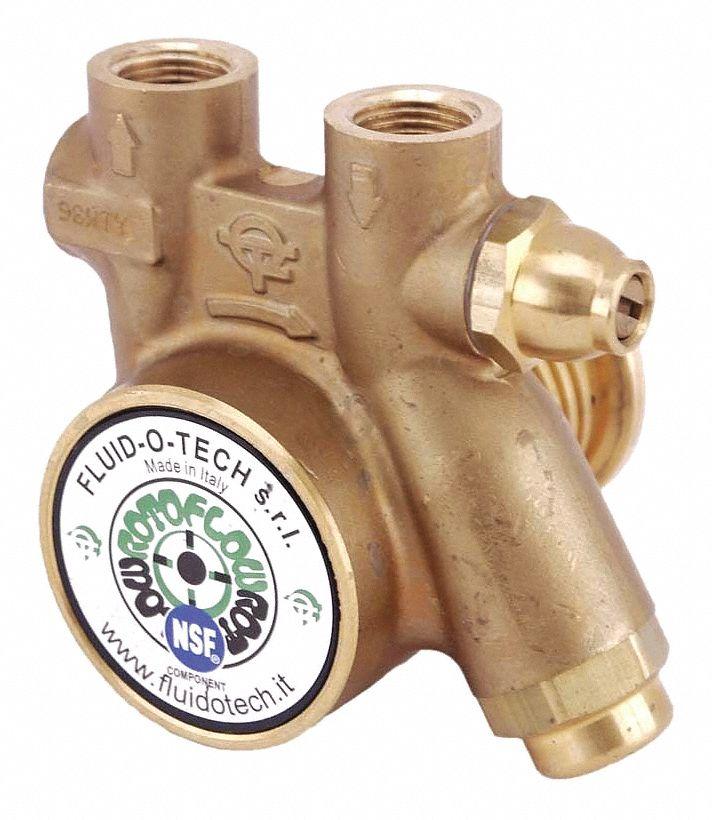 "111 Max GPH NEW FLUID-O-TECH 3//8 in/"" Brass Rotary Vane Pump Flow PA 301"