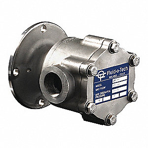 Rotary Vane Pump,Stainless Steel,6.6 gpm
