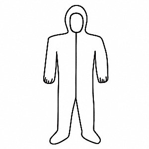 Coveralls with Elastic Material, White, 4XL