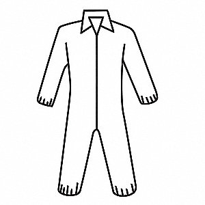 Coveralls with Elastic Cuff, Polypropylene Material, White, 2XL
