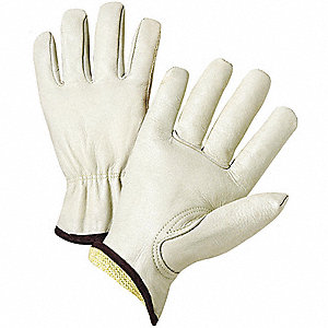 Lthr Palm Gloves,XL,Natural,Premium,PK12