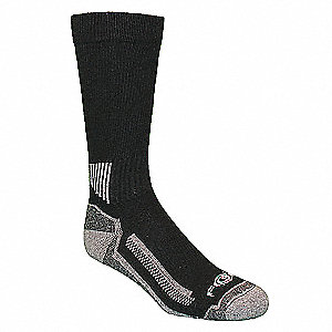 "Men's 10-1/2"" Work Socks, Black, 3 PK"