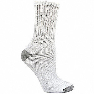 "Women's 8"" Socks, White, 6 PK"