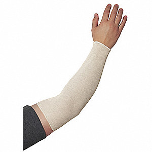 "Cotton Protective Sleeve, Length 16"", White"