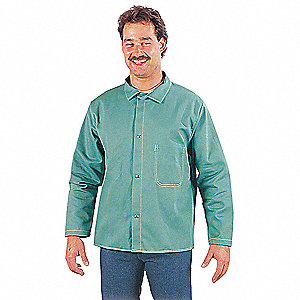 Flame-Resistant Jacket,Grn,40 to 42in