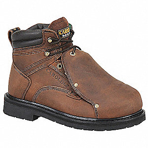 Work Boots,Steel,Mens,14,D,6inH,Brown,PR